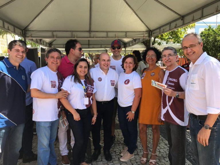 A ABO-CE promove ações educativas durante evento da Semana Branca em Fortaleza